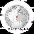 Outline Map of Fdérik, rectangular outline