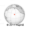 """Outline Map of the Area around 22° 23' 25"""" N, 158° 1' 30"""" W, rectangular outline"""