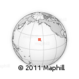 """Outline Map of the Area around 22° 23' 25"""" N, 158° 52' 30"""" W, rectangular outline"""