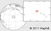 """Blank Location Map of the area around 22°23'25""""N,159°43'29""""W"""