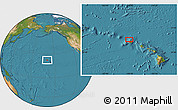 """Satellite Location Map of the area around 22°23'25""""N,159°43'29""""W"""