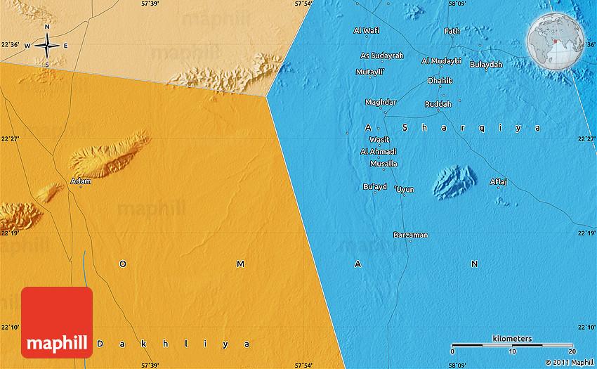 Political Map of Al A mad