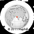 Outline Map of Marasa Sarovar Portico, Rajkot, rectangular outline