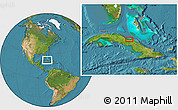"""Satellite Location Map of the area around 22°23'25""""N,78°58'29""""W"""