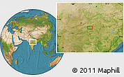 """Satellite Location Map of the area around 22°23'25""""N,79°7'30""""E"""