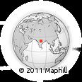 Outline Map of Singhori, rectangular outline