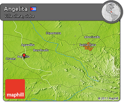 Physical 3D Map of Angelita