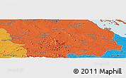 Political Panoramic Map of Santa Clara