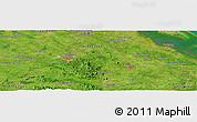Satellite Panoramic Map of Santa Clara