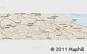 Shaded Relief Panoramic Map of Santa Clara