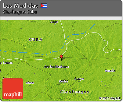 Physical 3D Map of Las Medidas