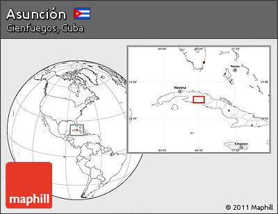 Blank Location Map of Asunción