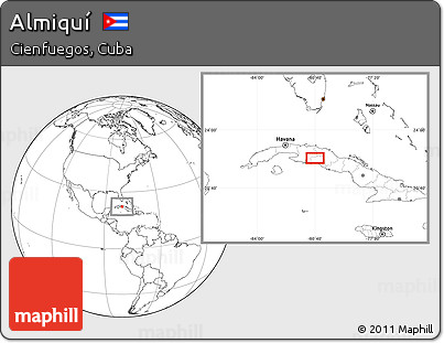 Blank Location Map of Almiquí