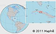 Gray Location Map of Las Medidas