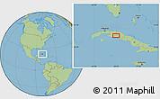Savanna Style Location Map of Las Medidas