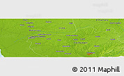 "Physical Panoramic Map of the area around 22° 23' 25"" N, 80° 40' 30"" W"