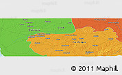 Political Panoramic Map of Las Medidas