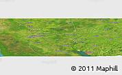 Satellite Panoramic Map of Las Medidas