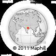 Outline Map of Khāmerkhudra, rectangular outline