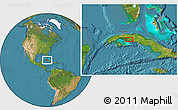 """Satellite Location Map of the area around 22°23'25""""N,81°31'30""""W"""