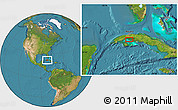 """Satellite Location Map of the area around 22°23'25""""N,82°22'30""""W"""