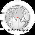 Outline Map of Raurkela, rectangular outline