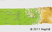 Physical Panoramic Map of Bubagan