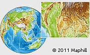 Physical Location Map of Mān Katkau