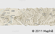 Shaded Relief Panoramic Map of Mān Hkamtan