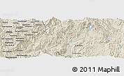 Shaded Relief Panoramic Map of Hsi-tung