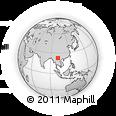 Outline Map of Simao, rectangular outline