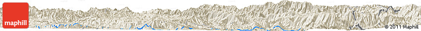 Shaded Relief Horizon Map of Bản Calan