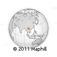 Outline Map of Bản Calan, rectangular outline