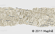"Shaded Relief Panoramic Map of the area around 22° 53' 22"" N, 102° 55' 30"" E"