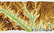 """Physical 3D Map of the area around 22°53'22""""N,103°46'30""""E"""