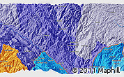 """Political 3D Map of the area around 22°53'22""""N,103°46'30""""E"""