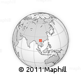 """Outline Map of the Area around 22° 53' 22"""" N, 103° 46' 30"""" E, rectangular outline"""