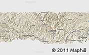 """Shaded Relief Panoramic Map of the area around 22°53'22""""N,103°46'30""""E"""