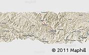 Shaded Relief Panoramic Map of Dashutangzhan