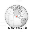 Outline Map of Valparaíso, rectangular outline
