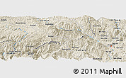 Shaded Relief Panoramic Map of Je Siao Ping
