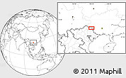 Blank Location Map of BácLục
