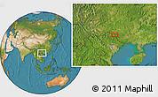 Satellite Location Map of BácLục