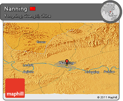 Political Panoramic Map of Nanning