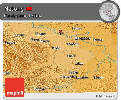 Political Panoramic Map of Natong