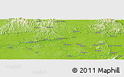"Physical Panoramic Map of the area around 22° 53' 22"" N, 108° 52' 30"" E"
