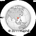 Outline Map of Hengling, rectangular outline