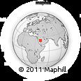 Outline Map of Al Muwayh, rectangular outline