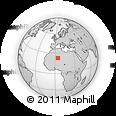 Outline Map of Silet, rectangular outline