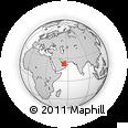 Outline Map of Ḩamīm, rectangular outline
